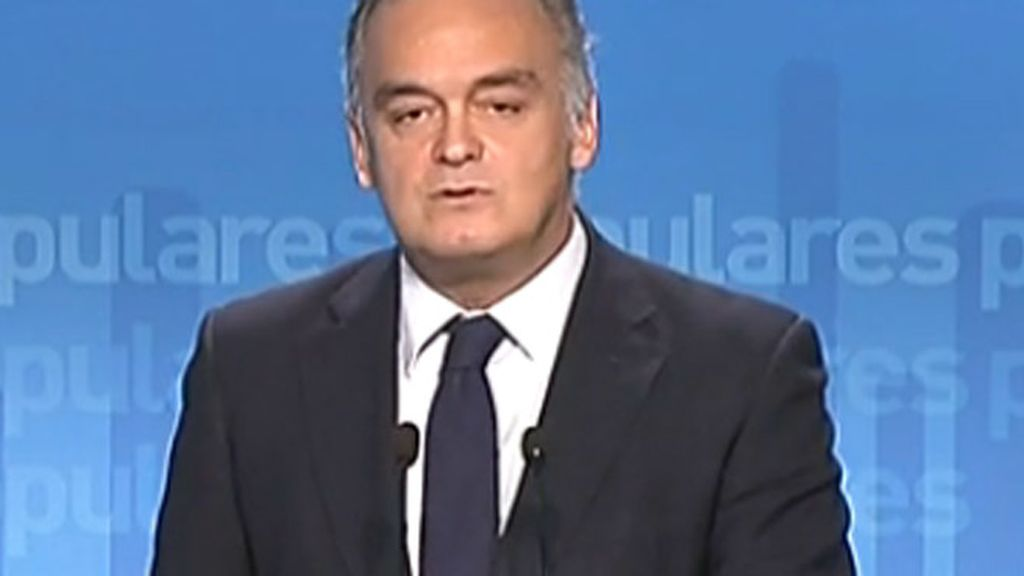 """González Pons dice que Rubalcaba """"se equivoca"""" y le acusa de tener prisa por volver a gobernar"""