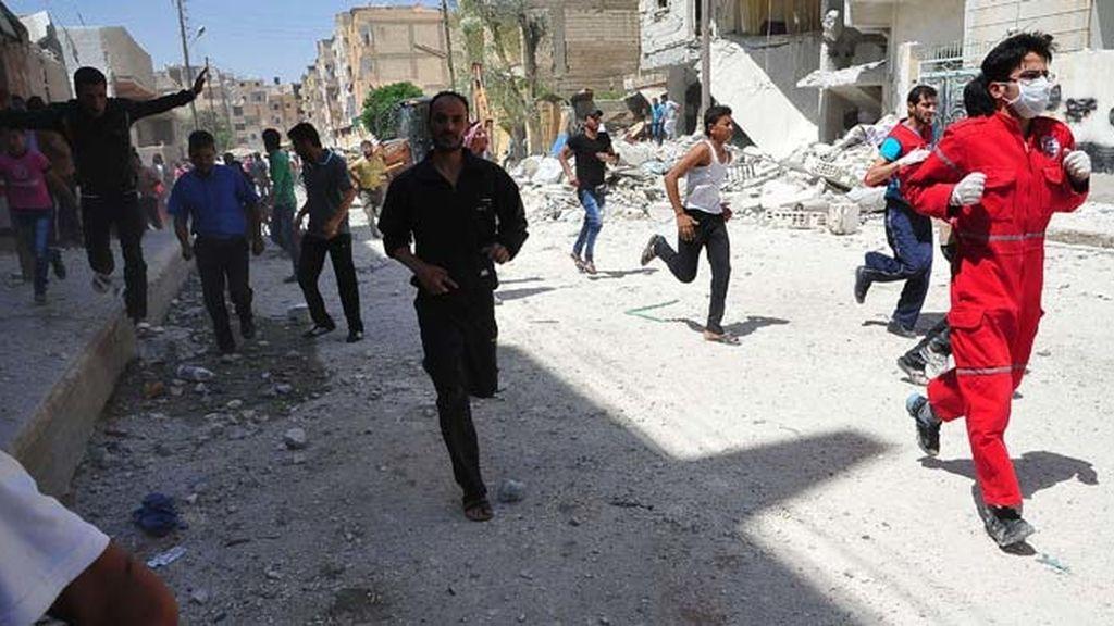 14 muertos  tras la explosión de dos bombas en una plaza del centro de Damasco