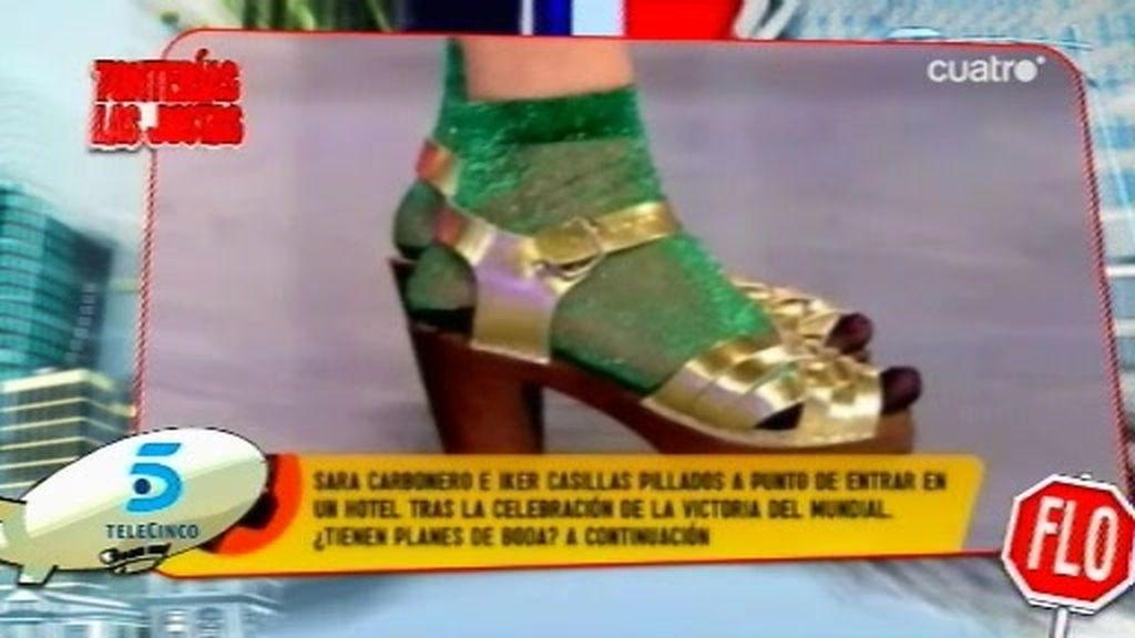 Karmele, a la moda 'dominguera' con calcentines y chancletas