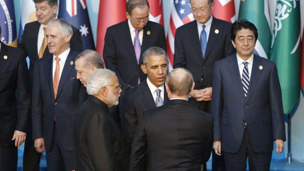 Putin y Obama se reúnen a solas en el G-20 durante más de media hora