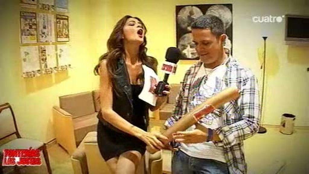 Romina entrevista a Alejandro Sanz