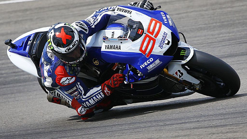 Jorge Lorenzo, durante la carrera en Assen
