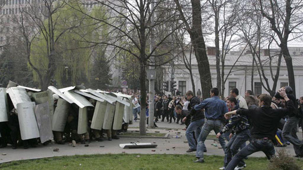 Protestas en Moldavia por fraude en las elecciones