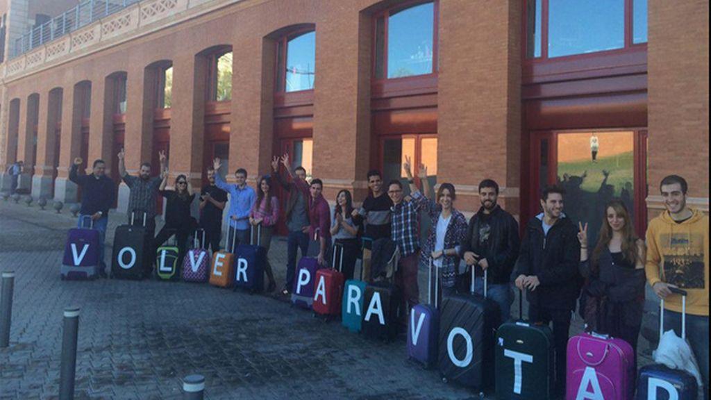 Podemos lanza la campaña electoral 'Volver para votar, votar para volver'