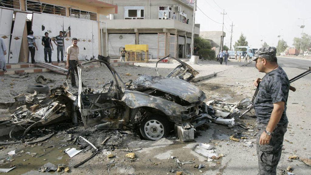Atentado con coche bomba en Kirkuk, Irak.