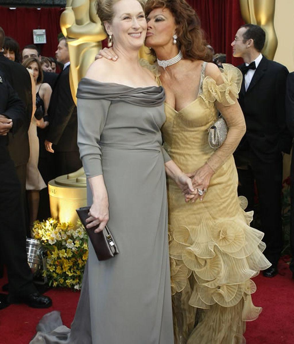 Meryl Streep y Sofía Loren