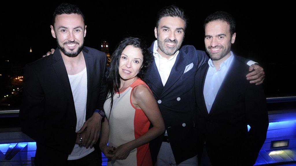 Eugenio Sánchez, Julia Ferrandis, Óscar Castañares y Pedro Flores