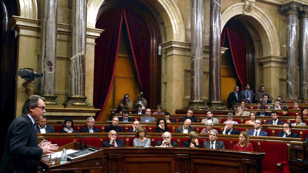 Debate de investidura de Artur Mas en el Parlamento de Cataluña