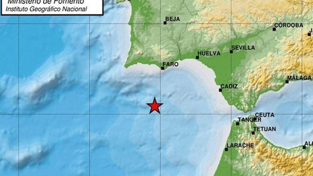 Terremoto en en el Golfo de Cádiz