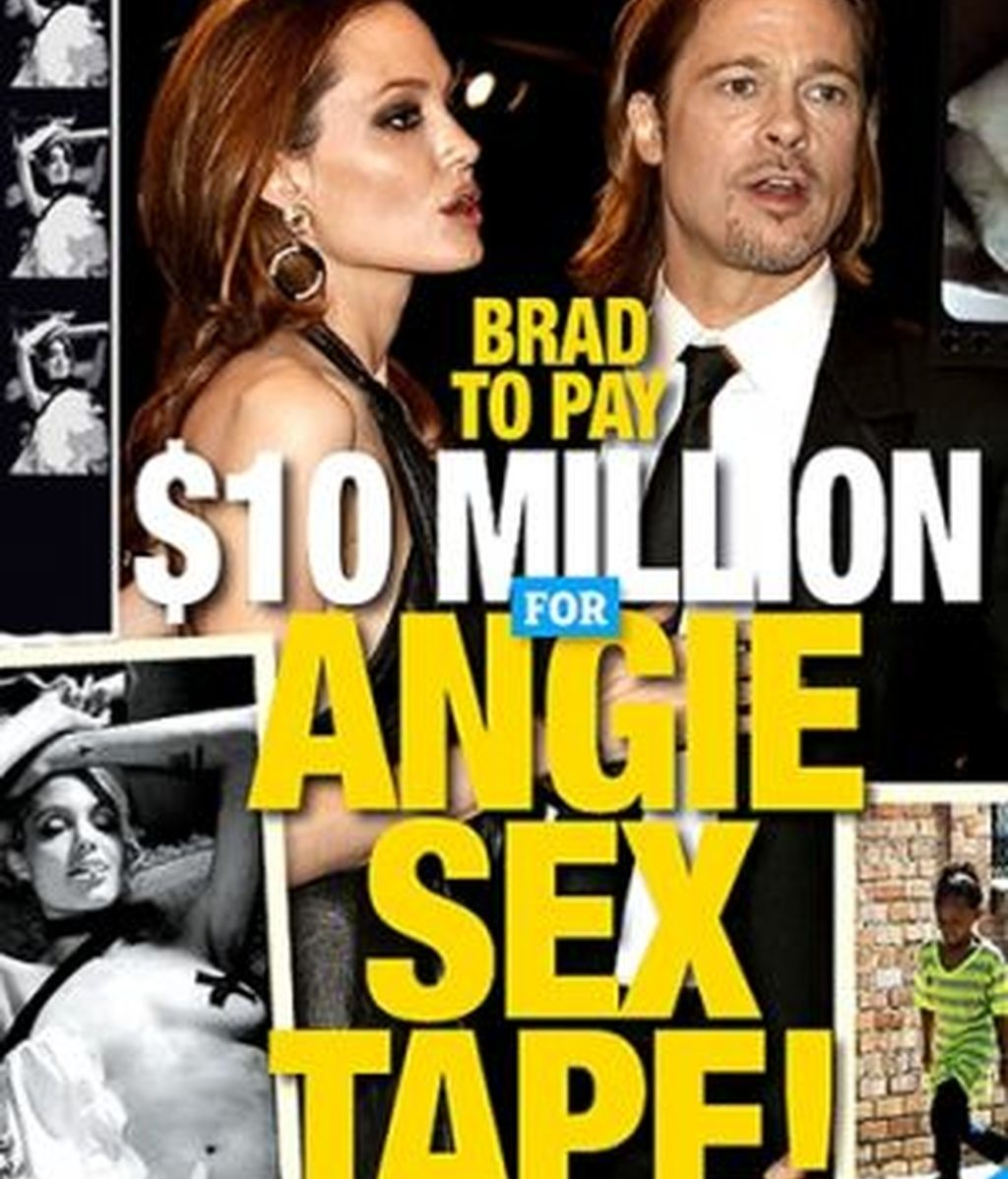 A punto de ver la luz un vídeo de sexual de Angelina Jolie. Foto: The National Enquirer