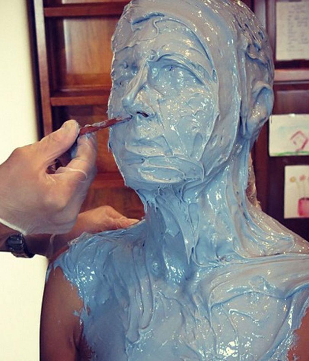 Heidi Klum, máscara a medida