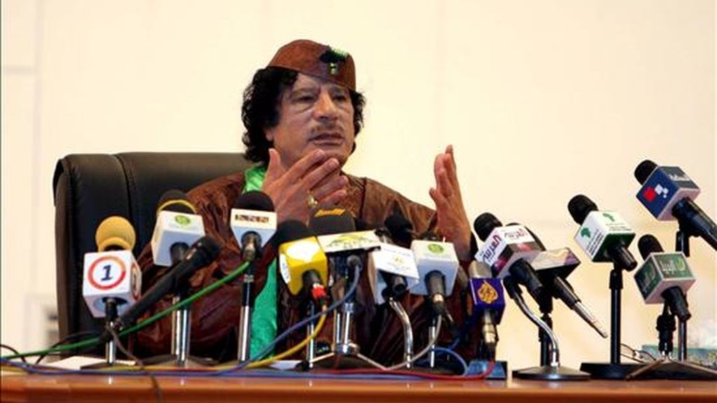 El líder libio, Muamar Gadafi. EFE/Archivo