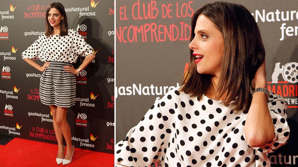 Macarena García combinó diferentes estampados en su conjunto