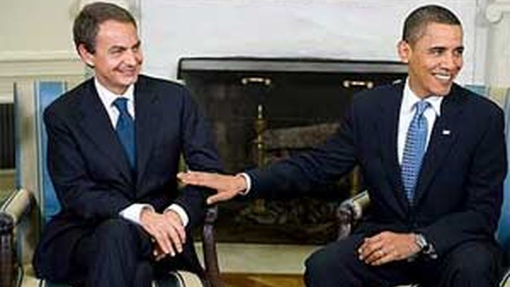 José Luis Rodríguez Zapatero y Barack Obama han comparecido ante la prensa tras su encuentro en la Casa Blanca. Vídeo: Informativos Telecinco.