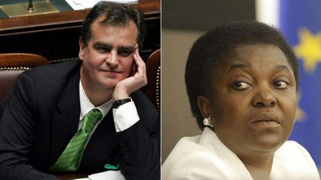 Roberto Calderoli y Cécile Kyenge