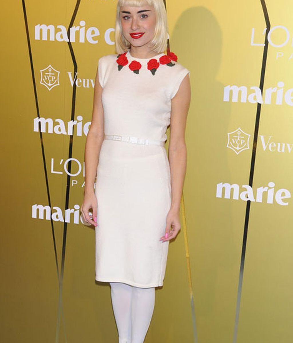 Miranda Makaroff, vestida de David Delfín