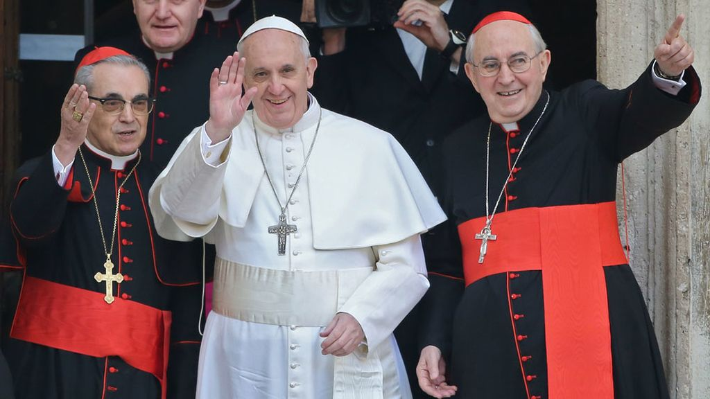 El Papa Francisco visita la visita la iglesia de Santa María la Mayor en Roma