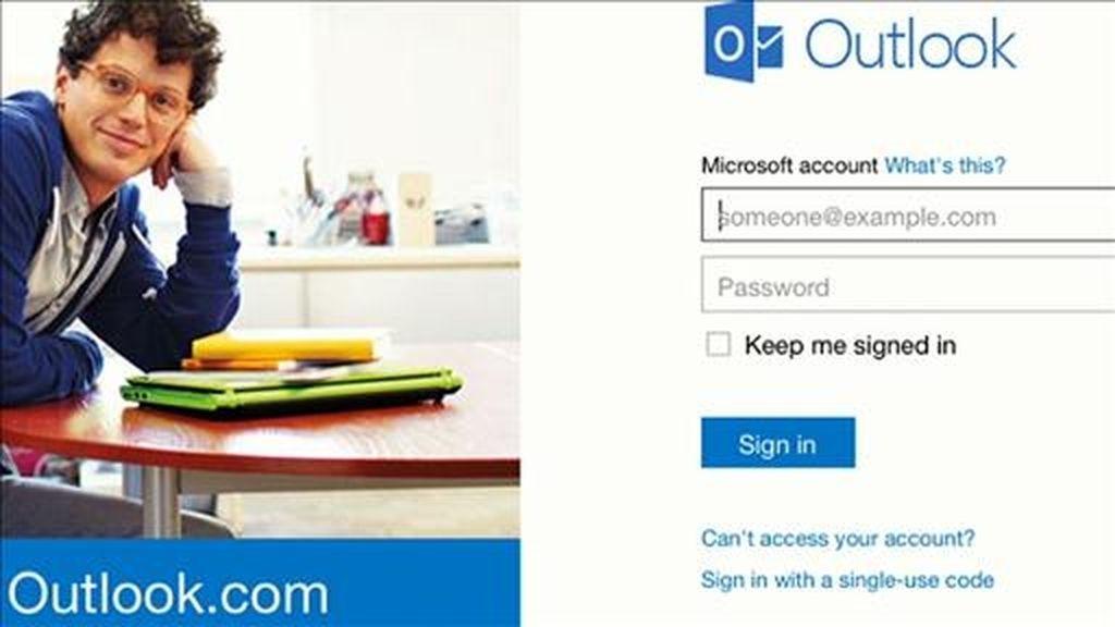 Microsoft asegura que solo es necesario iniciar sesión en Outlook.com con las credenciales de sus cuentas de Hotmail.
