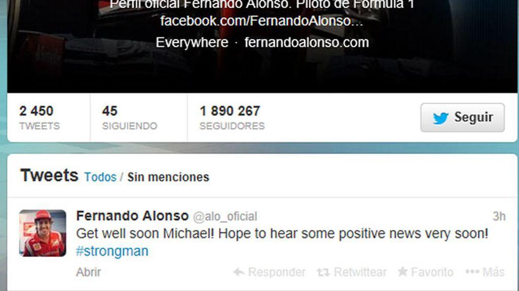 Fernando Alonso desea que Michael Schumacher se recupere de su accidente