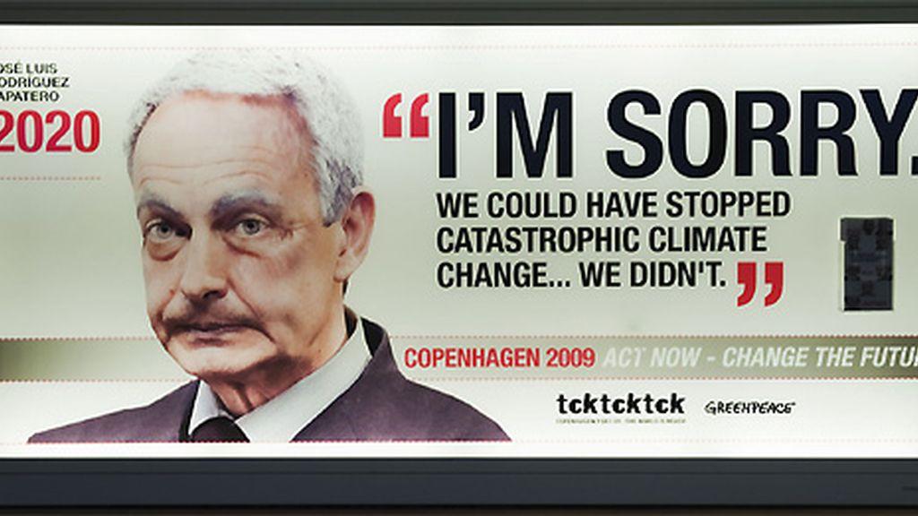 Greenpeace envejece a Zapatero en su última campaña