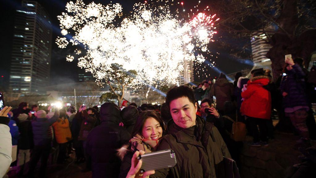 El año nuevo se celebra en Seúl, Corea del Sur