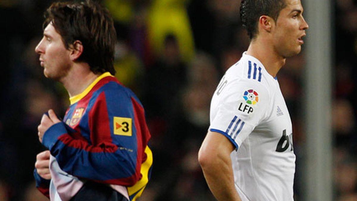 Cristiano Ronaldo y Messi, los dos mejores jugadores del mundo
