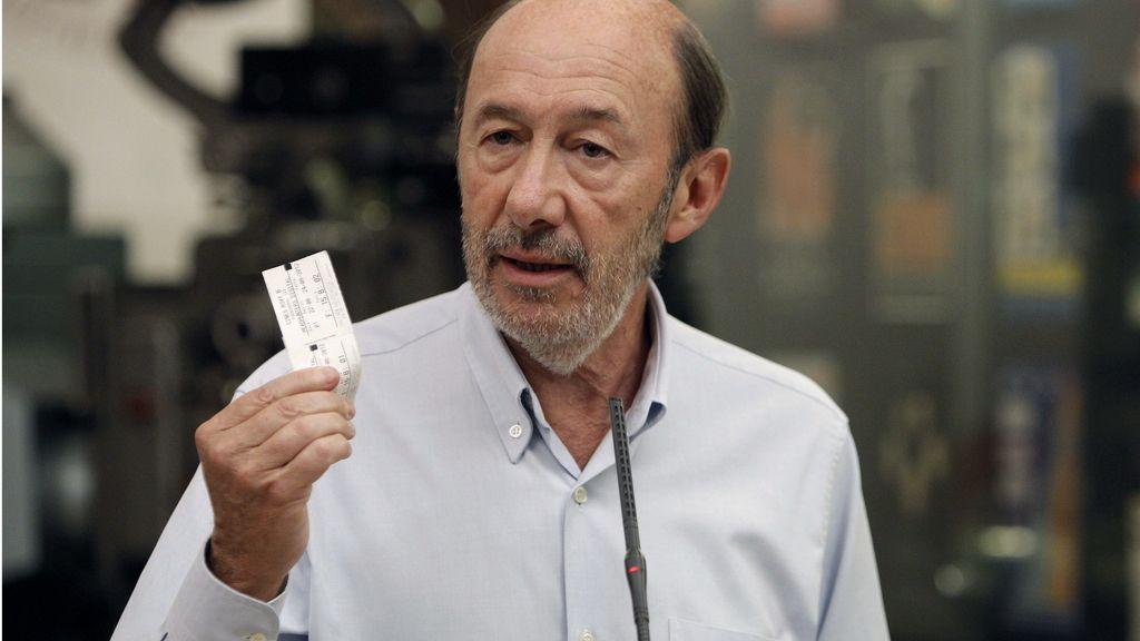 El secretario general del PSOE, Alfredo Pérez Rubalcaba, #CulturaSinRecortes. Foto: EFE