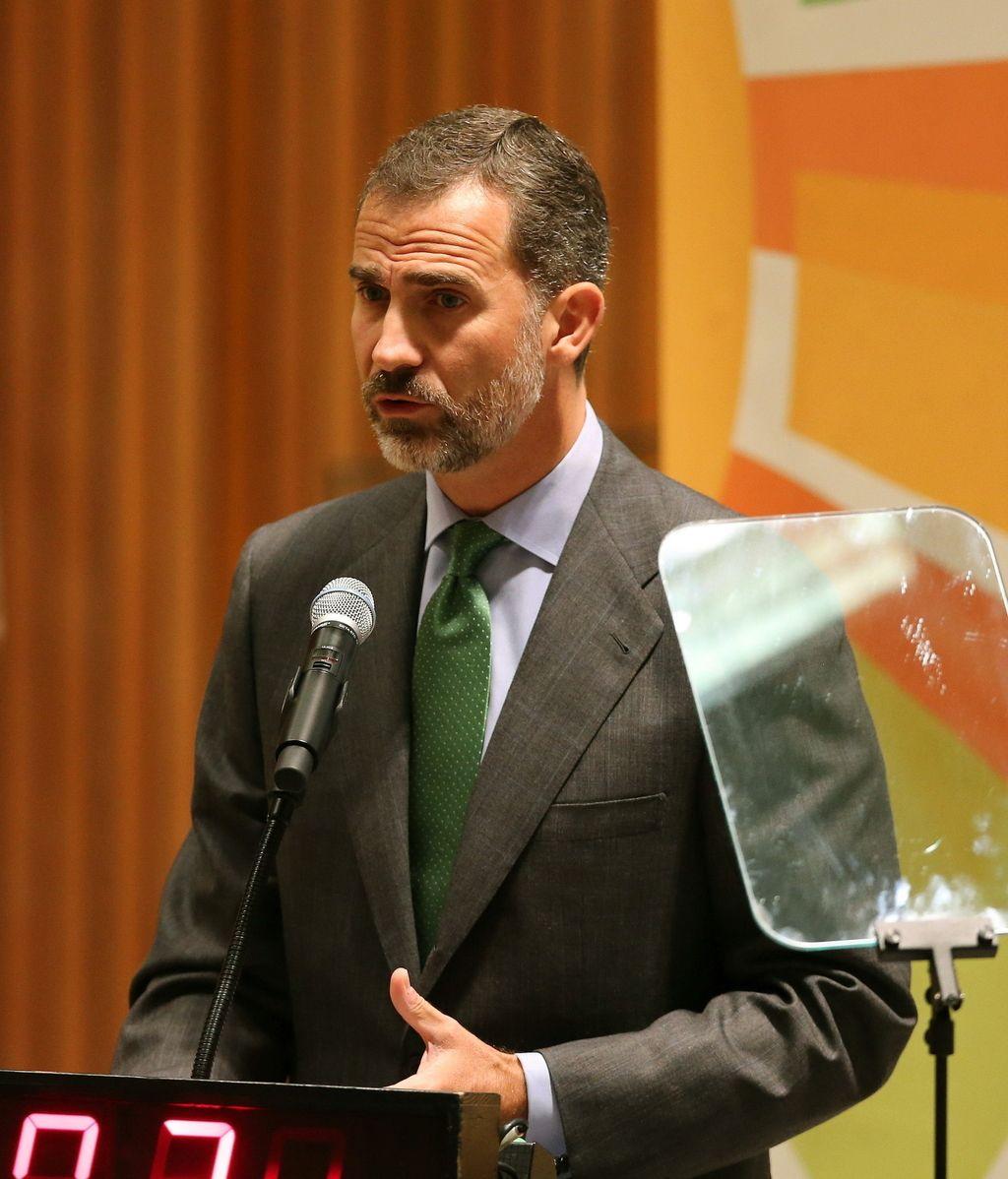 Felipe VI durante su intervención en la Cumbre del Clima en la Asamblea General de la ONU