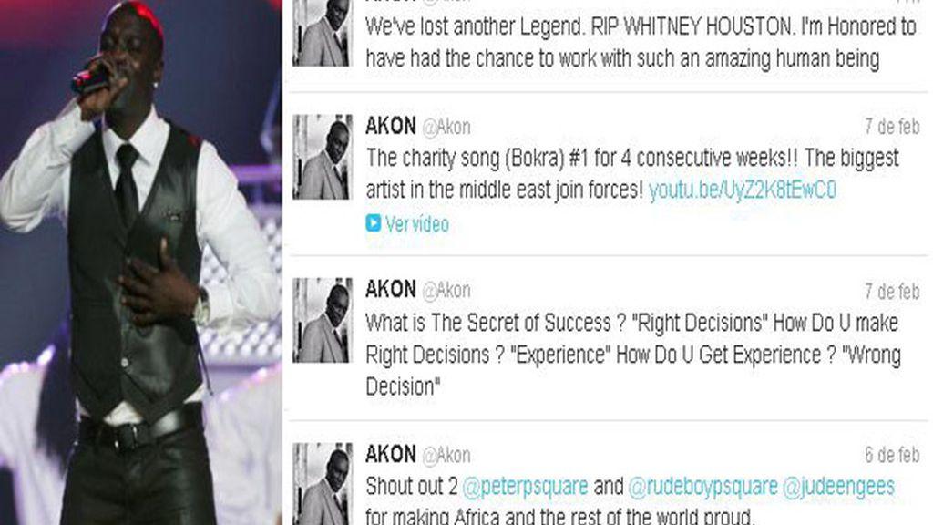 El cantante Akon