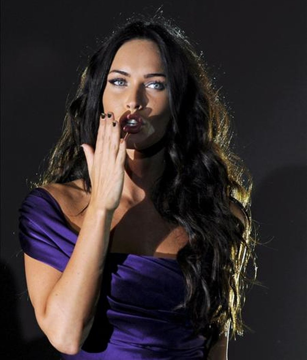 """Megan Fox, que ha sido considerada dos años consecutivos como la mujer más sexy del mundo por los lectores de la revista FHM, dijo que el personaje de Lara Croft """"es un rol que Angelina Jolie ha hecho a la perfección"""". EFE/Archivo"""