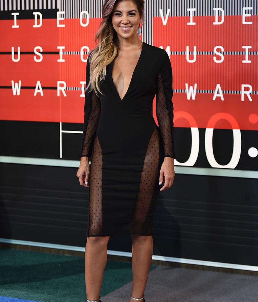 Liz Hernández en los premios MTV