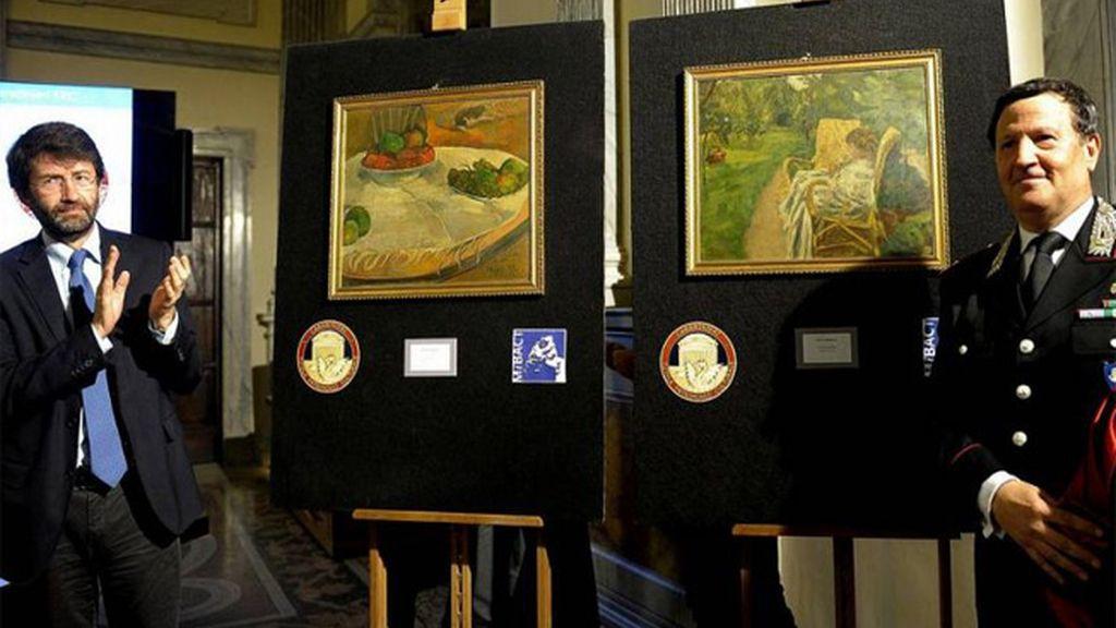 Italia encuentra dos cuadros de Gauguin y Bonnard robados en los años 70