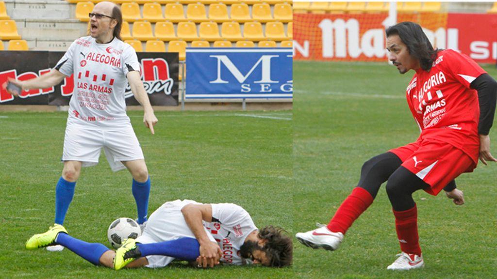 Deportividad y mucho sentido del humor entre los jugadores de los dos equipos