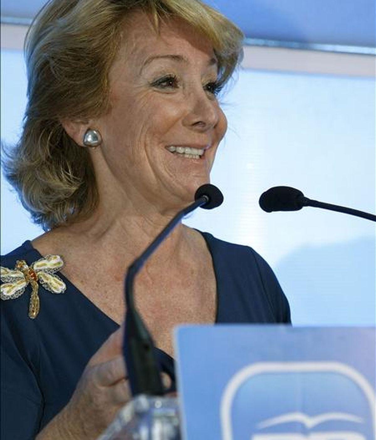 La presidenta de la Comunidad de Madrid, Esperanza Aguirre. Vídeo: Atlas