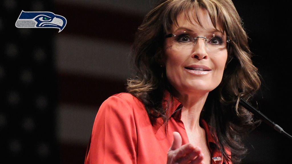 Sarah Palin: aficionada en Alaska – Seahawks