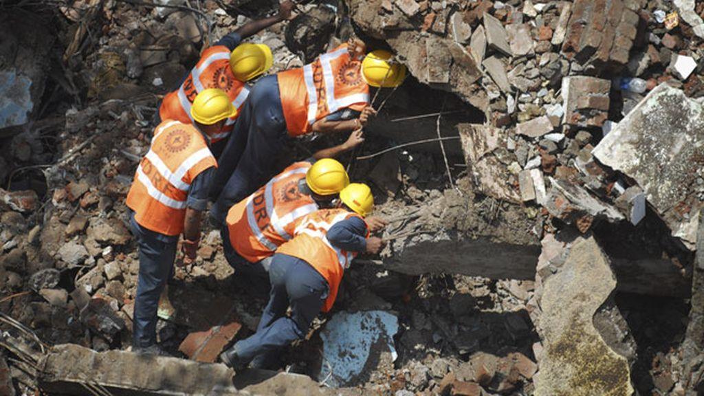 Hundimiento de un edificio en Bombay