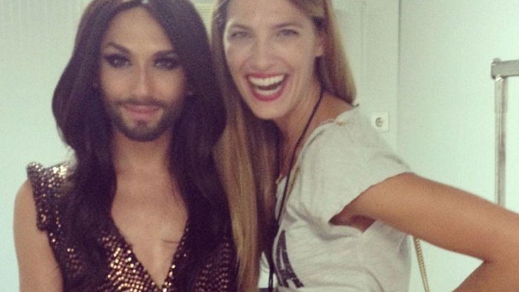 Laura Sánchez, orgullosa con Conchita Wurst