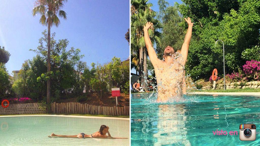 Natalia Sánchez y Marc Clotet han disfrutado como niños en Marbella