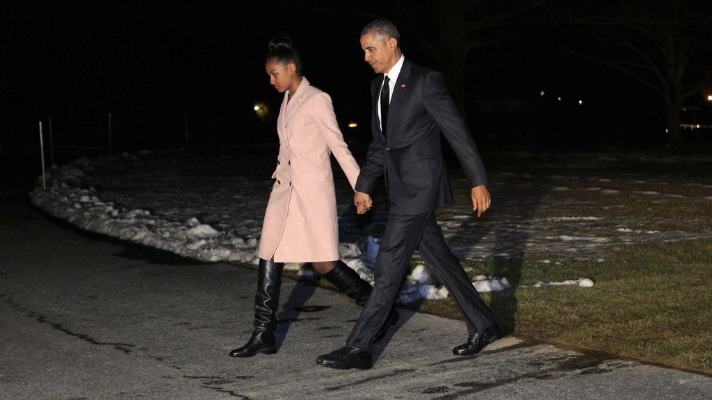 Barack Obama y su hija Sasha