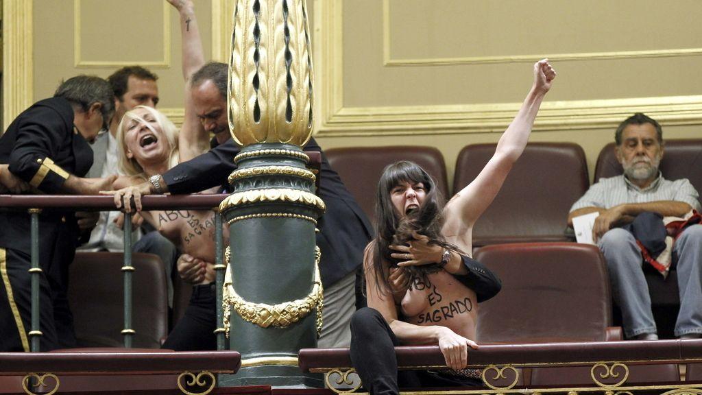 Las activistas interrumpen a Gallardón