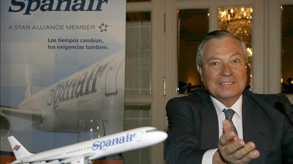 El presidente de Marsans y de Spanair, Gonzalo Pascual. EFE/Archivo