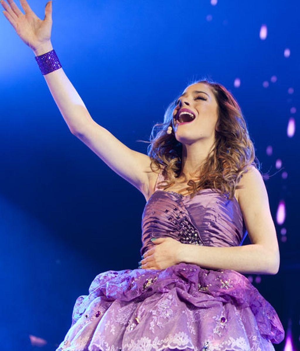 Martina Stoessel durante el concierto