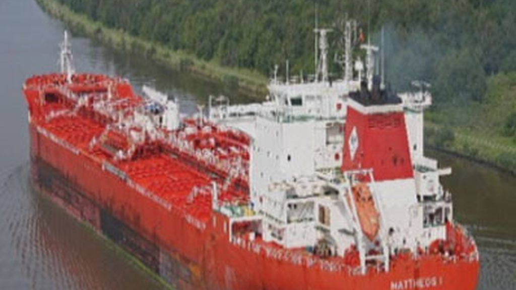 El buque Mateo1 secuestrado en aguas del golfo de Guinea