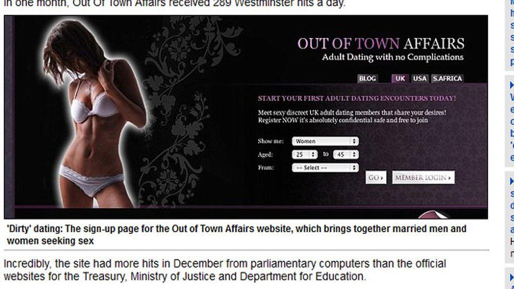 Una web de adulterios recibe más de 52.000 visitas desde el Parlamento británico