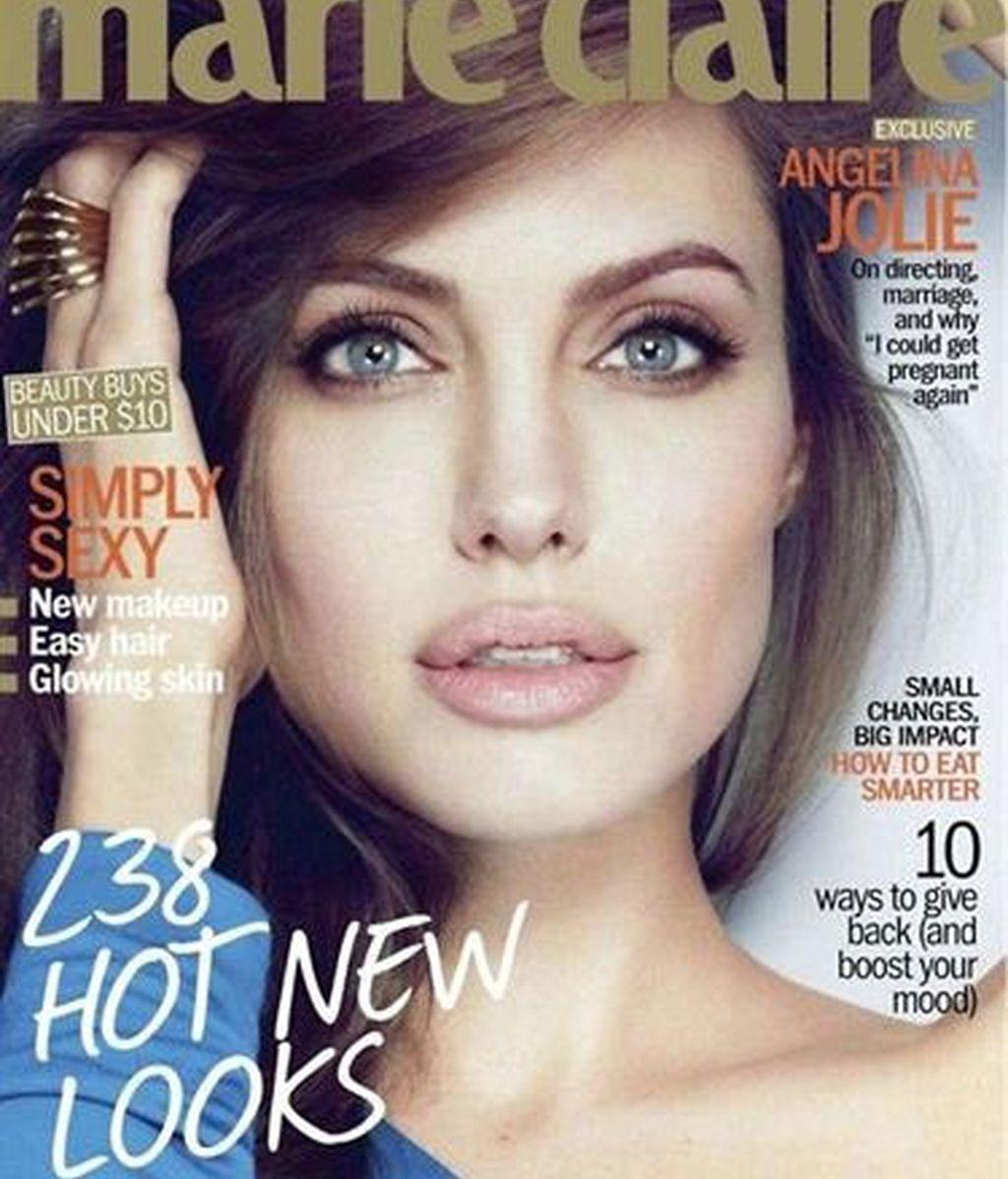 Angelina Jolie protagoniza la última portada de Marie Claire