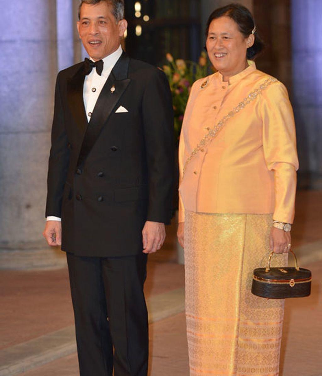 La princesa de Tailandia, Maha Chakri Sirindhorn, apostó por el amarillo