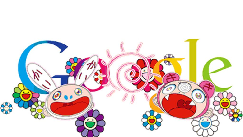 El doodle diseñado por el artista japonés Takashi Murakami para celebrar la llegada del verano.