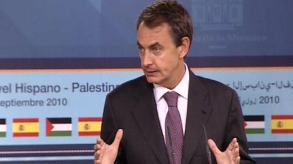 """Zapatero: a ETA sólo le queda """"el abandono de las armas para siempre"""""""