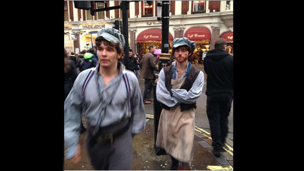 'Los Miserables' invaden por sorpresa las calles de Londres
