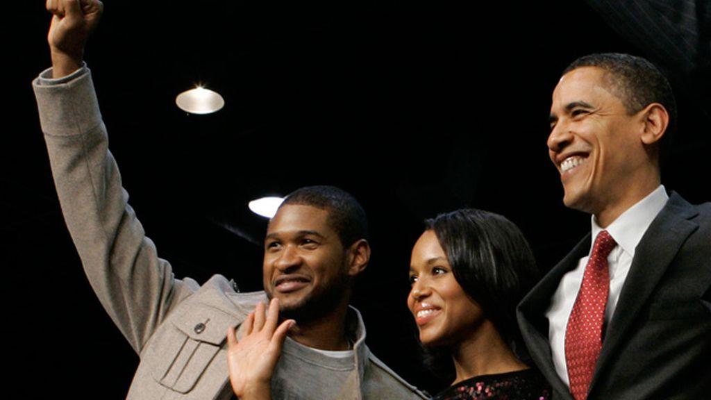 Usher y Jennifer Hudson